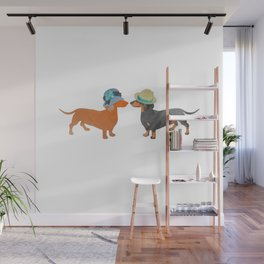 Dachshund love Wall Mural