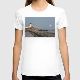 Full Flower Moon at Eastern point lighthouse T-shirt