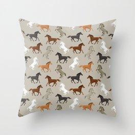 Horse Pattern | Horseback Riding Pony Stallion Throw Pillow