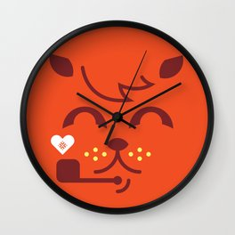 UNDO   ILU Pet Lover series [ tobias ] Wall Clock