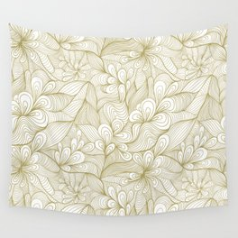 gold detailed waves Wall Tapestry