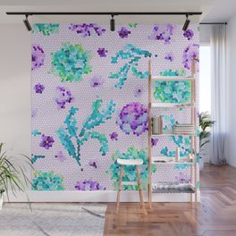 Stained Glass Watercolor Wall Mural