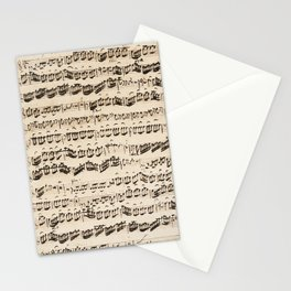 Johann Sebastian Bach (1685 – 1750) original music sheet Stationery Cards