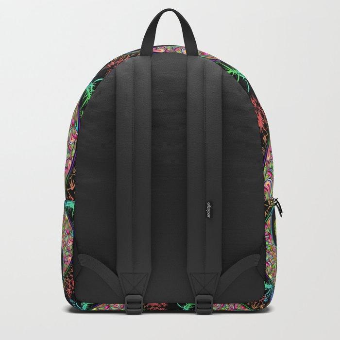 Yin Yang Bamboo Psychedelic Backpack