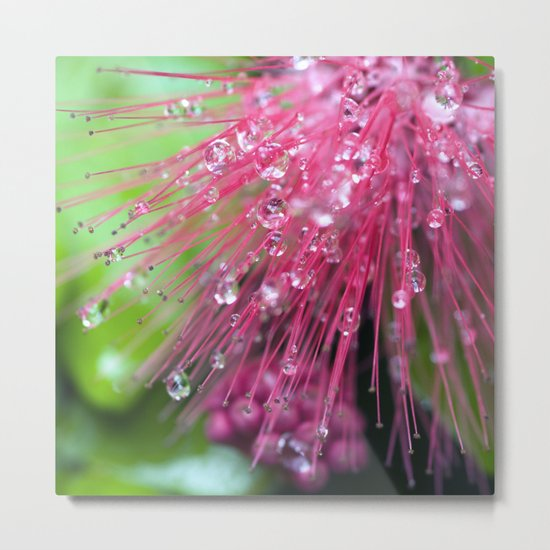 Glistening Diamonds of Pink Metal Print