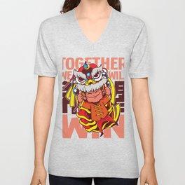 Dragon Chinese Lion Unisex V-Neck