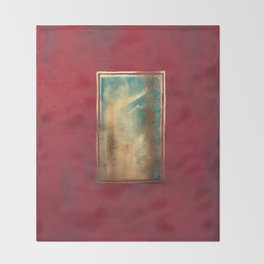Deep Red, Gold, Turquoise Blue Throw Blanket