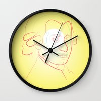 mozart Wall Clocks featuring Mozart by Raúl Yslas