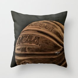 Colored Basketball Art Throw Pillow