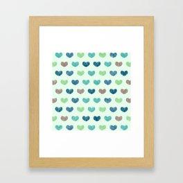 Colorful Cute Hearts V Framed Art Print