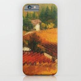 Tuscany Vineyards iPhone Case