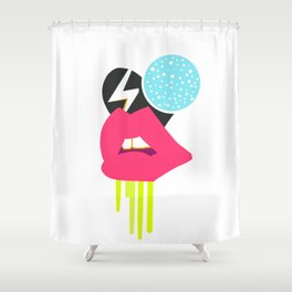 Licked lips Shower Curtain