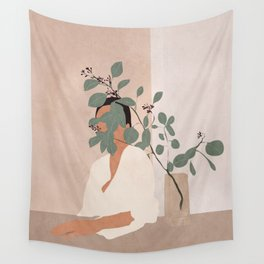 Behind the Leaves Wall Tapestry
