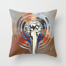 Flüssiger Diamant Throw Pillow