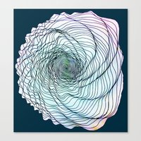 shell Canvas Prints featuring Shell by Brontosaurus