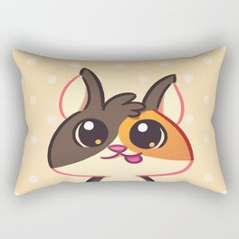 Curious Kitty Cat Rectangular Pillow