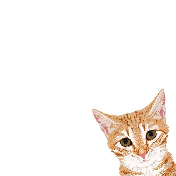 Peeking Orange Tabby Cat - cute funny cat meme for cat ladies cat people Duvet Cover