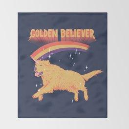Golden Believer Throw Blanket