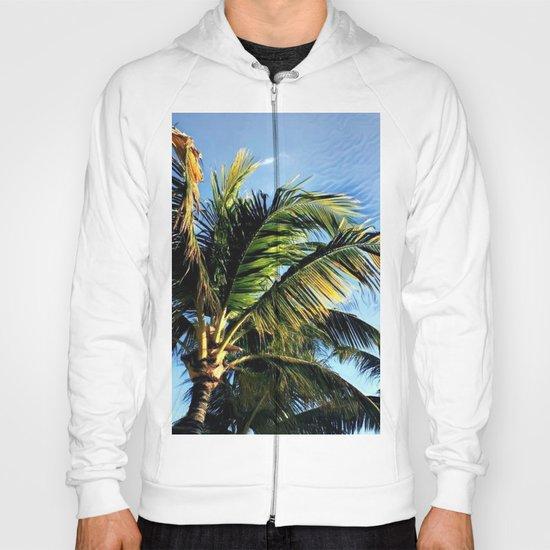 Palm Tree in the Wind (Hawaii Sky) Hoody
