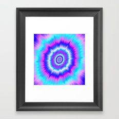 Boom in Blue and Pink Framed Art Print