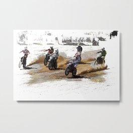 Starting Strong! - Motocross Racers Metal Print
