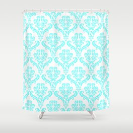 DAMASK AQUA BLUE Shower Curtain