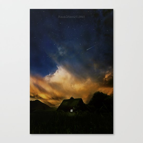 Home under the stars Canvas Print