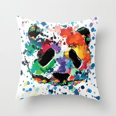 Splash panda Throw Pillow