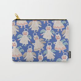 Angels on blue Carry-All Pouch
