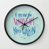 karen hallion Wall Clocks featuring KAREN GEWALT LAFAYETTE by Josh LaFayette