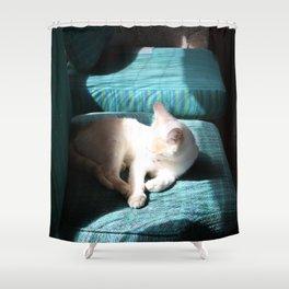 Cat In The Sun Shower Curtain