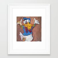 donald duck Framed Art Prints featuring Donald Duck diddy by Larry Caveney