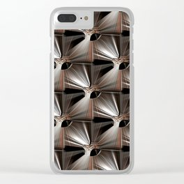 Metal Armour Screen Pattern Clear iPhone Case