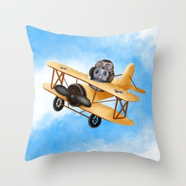 Dotty Dolittle The Flying Squirrel Throw Pillow