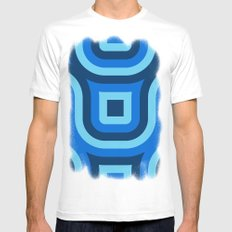 Blue Truchet Pattern MEDIUM White Mens Fitted Tee