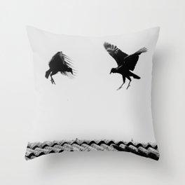 fighting buzzards Throw Pillow