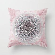 ICELAND MANDALA IN PINK Throw Pillow
