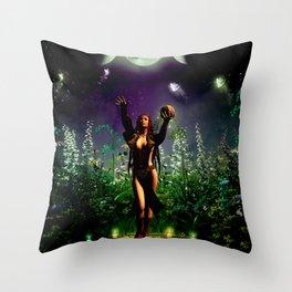 The dark fairy Throw Pillow