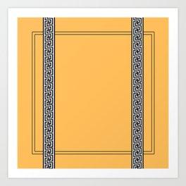 Greek Yellow Pattern Art Print
