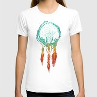 dark T-shirts featuring Dream Catcher (the rustic magic) by Picomodi