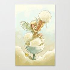 Goblins Drool, Fairies Rule! - Vanilla Scoop Canvas Print