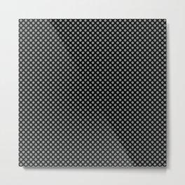 Black and Neutral Gray Polka Dots Metal Print