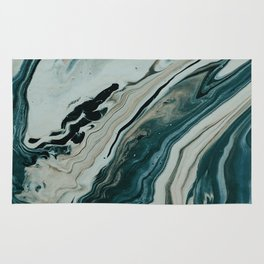 Tranquil Arctic Painting Marble Rug
