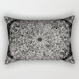 MANDALA ON BLACK MARBLE Rectangular Pillow