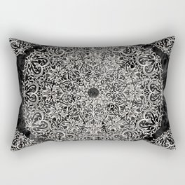 MANDALA ON BLACK MARBLE Rectangular Pillow