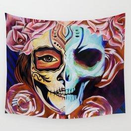 SkullFace Inverted Wall Tapestry