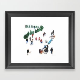 The Fork's River Trail Framed Art Print