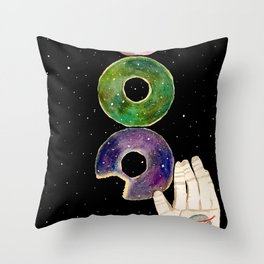 Galaxy Donuts Throw Pillow