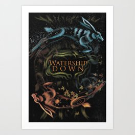 Watership Down alternative cover Art Print