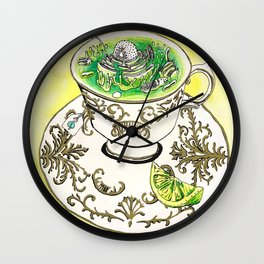 A Nice Hot Cup of Mitochondria Wall Clock
